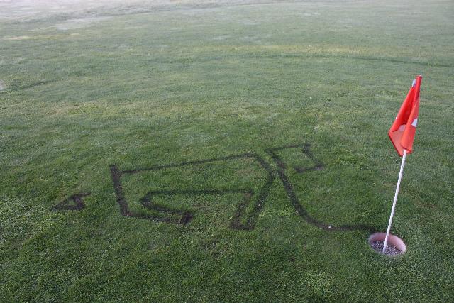 bemalter Golf-Rasen